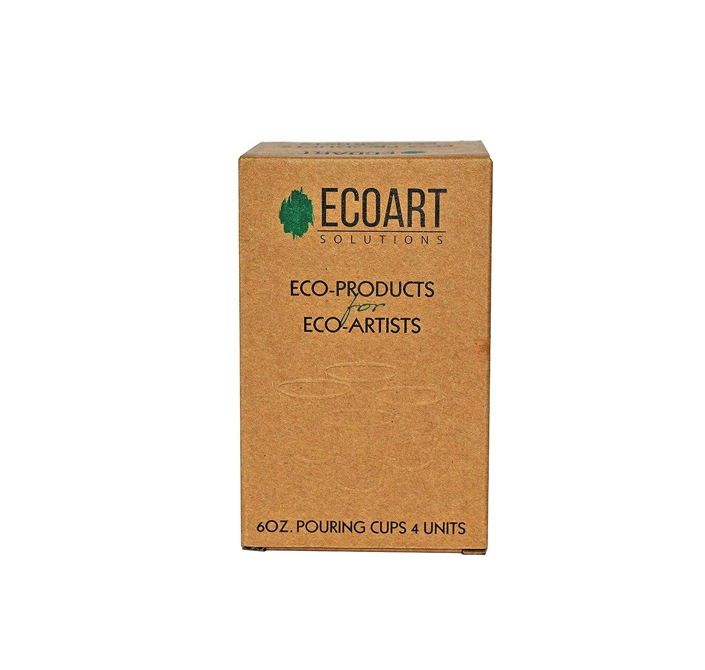 ECOART Solutions - Juego de 4 tazas de silicona para mezclar y ...