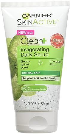 Garnier Clean Invigorating Daily Scrub for Normal Skin 5 oz Pack of 4
