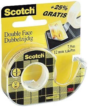 Scotch 665dp mano Dispensador de relleno con 1 Roll edoppe lseitigem cinta adhesiva 665, 7.9 M X 12 mm, 12 unidades): Amazon.es: Oficina y papelería