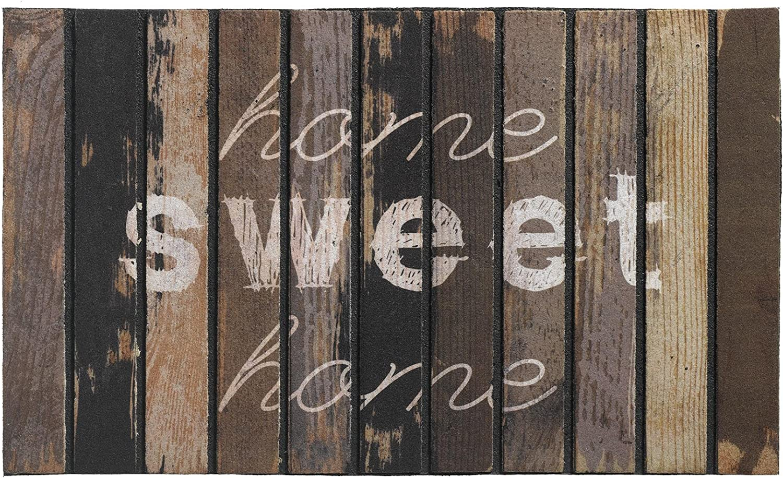 Home XS Grigio Antiscivolo BSM 2000 Zerbini per Esterni in Fibra di Coco 75 x 26 cm Tappetino in Coco Motivi Diversi Zerbino