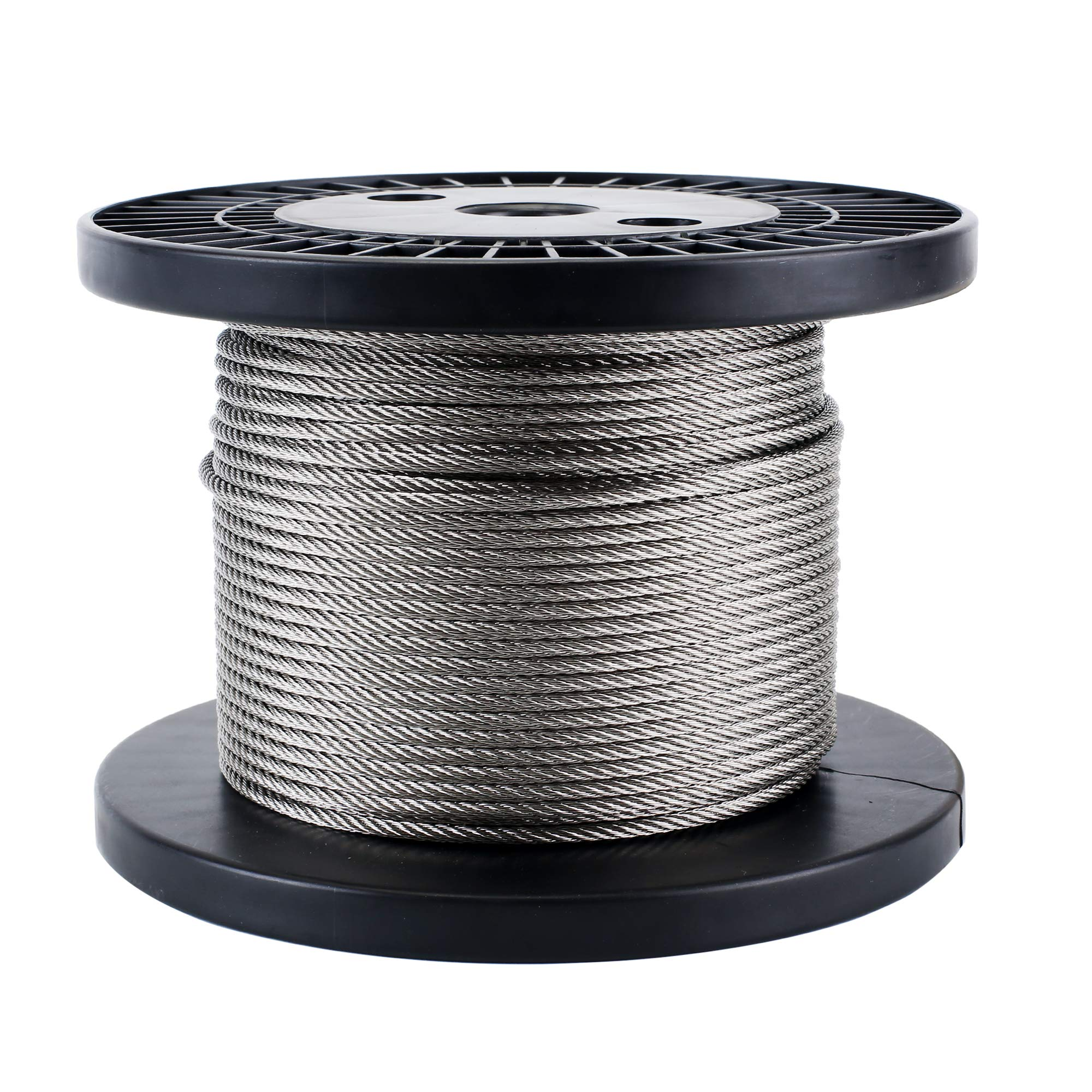 Zoostliss 100Ft Stainless Steel Aircraft Wire Rope 1/8'' for Deck Cable Railing Kit, 7x7 T316 Marin Grade