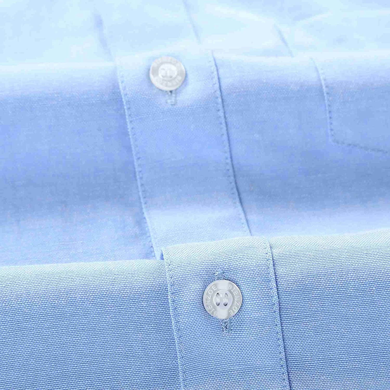 Bienzoe Girls School Uniform Oxford Long Sleeve Blouse Bowtie Pack