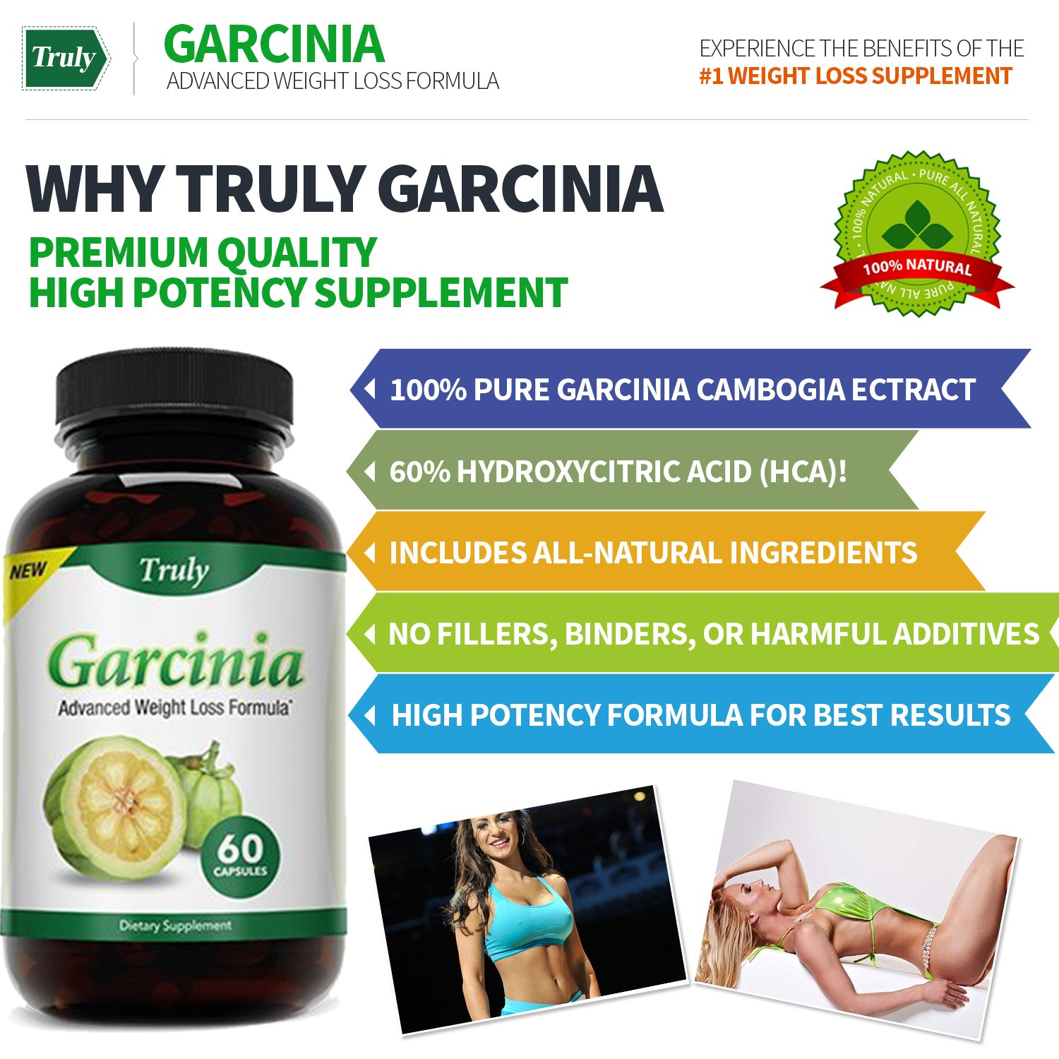 Truly Garcinia- Garcinia Cambogia- Ultra Premium Weight Management Formula-Natural And Potent Weight Loss Pills For Men And Women – Burn Belly Fat – Metabolism Booster – Powerful Antioxidant by Truly (Image #5)
