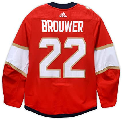 release date: 59e2d 1d95b Troy Brouwer Florida Panthers Game-Used #22 Red Jersey from ...