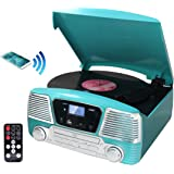 TechPlay ODC35BT TR with Bluetooth, 3 Speed Turntable Programmable MP3 CD Player, USB/SD, Radio & Remote Control