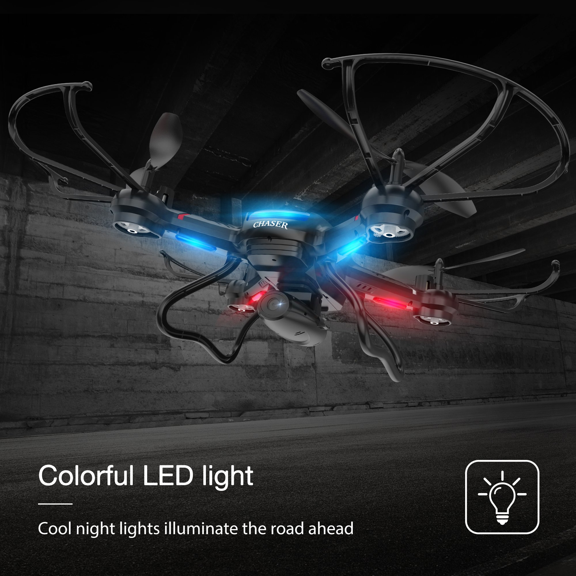 Holy Stone F181W Wifi FPV Drone with 720P Wide-Angle HD Camera Live Video RC Quadcopter with Altitude Hold, Gravity Sensor Function, RTF and Easy to Fly for Beginner, Compatible with VR Headset by Holy Stone (Image #6)