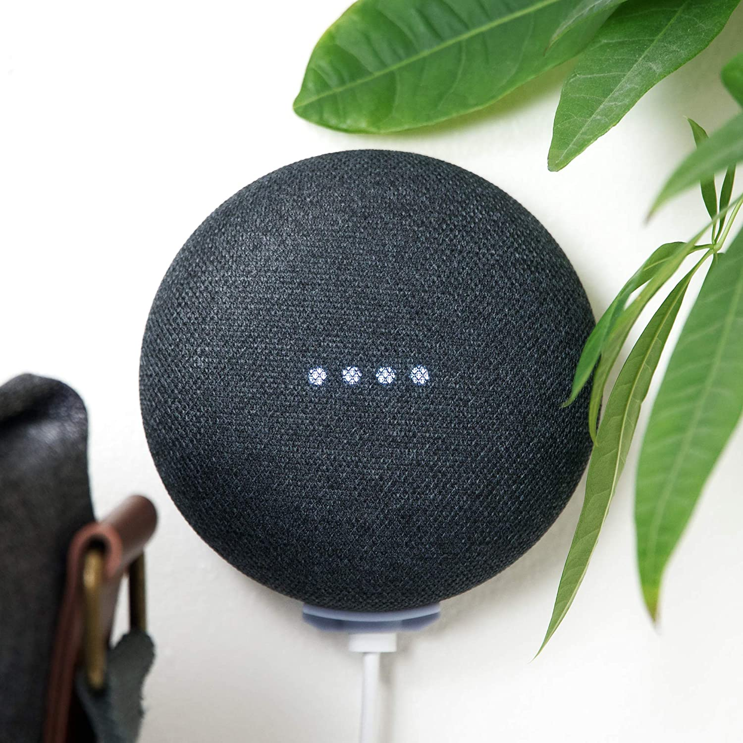 2 Pack!, Minimalist Google Home Mini Wall Mount, Damage Free, Screwless & Rigid. 100% Designed & Made in The USA, Perfect for Dorm & Renters.