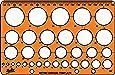 Helix Circle Stencil Template - Translucent Orange