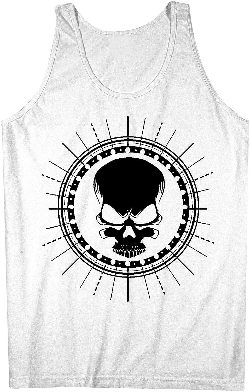 Skull Artwork Mens Tank Top Sleeveless Shirt White XX-Large