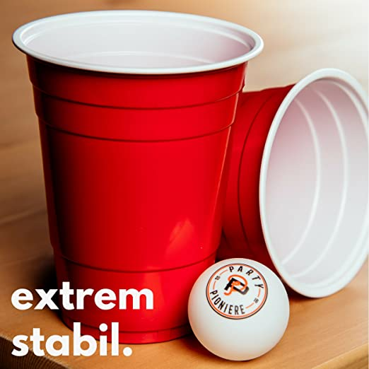 Gratis E-Book GuidePremium Beer Pong B 100 Rote Becher 6 Beer Pong Bälle