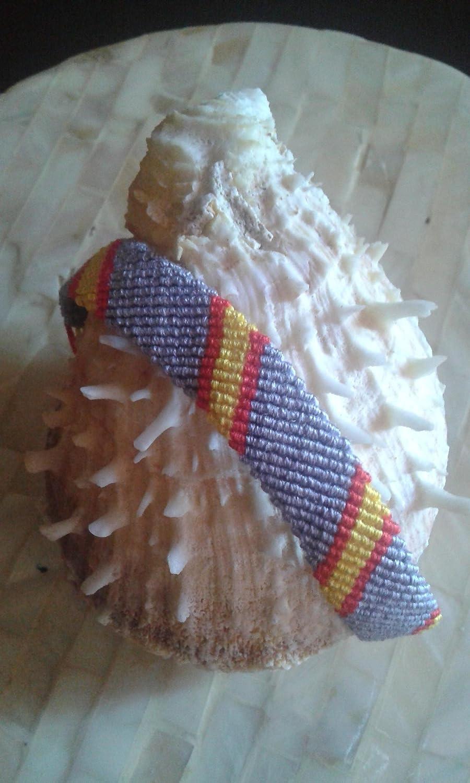 PULSERA de MACRAME Bandera España Franja GRIS: Amazon.es: Handmade