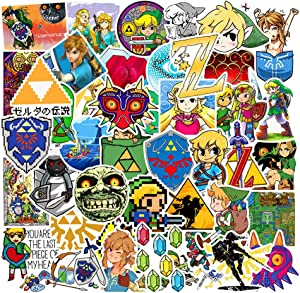 Ratgoo 47Pcs Trendy Waterproof Vinyl Funny Graffiti Stickers Pack for Legend of Zelda Motorcycle Car Luggage Phone Guitar MacBook Water Bottle Flasks Bike Laptop Motocross Decals for Girls Kids Teens