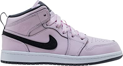 6269fc6b809 Amazon.com  Jordan 1 Mid Pink Foam Black-White (PS) (2 M US Little ...