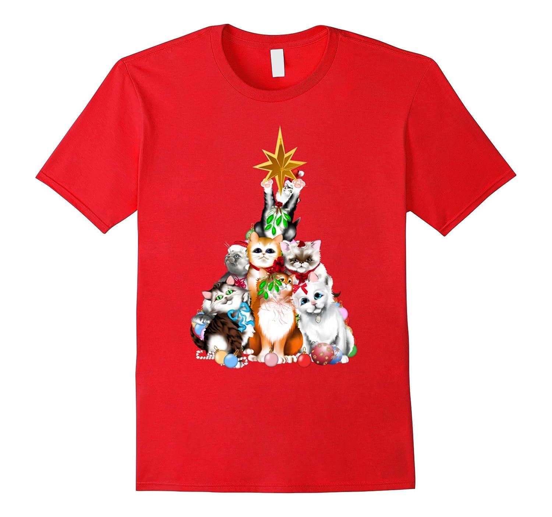 Merry Christmas T Shirt Funny Cat Christmas Tee-Art