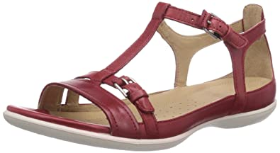 913980e1 Amazon.com | ECCO Women's Flash T-Strap Sandal | Flats