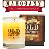 Scented Candles - Mahogany - Decorative Aromatherapy - 11-Ounce Soy Candle - from Old Factory Candles