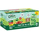GoGo squeeZ Applesauce on the Go, Variety Pack (Apple/Banana/Strawberry), 3.2 Ounce (20 Pouches), Gluten Free, Vegan Friendly, Unsweetened, Recloseable, BPA Free Pouches (Packaging May Vary)