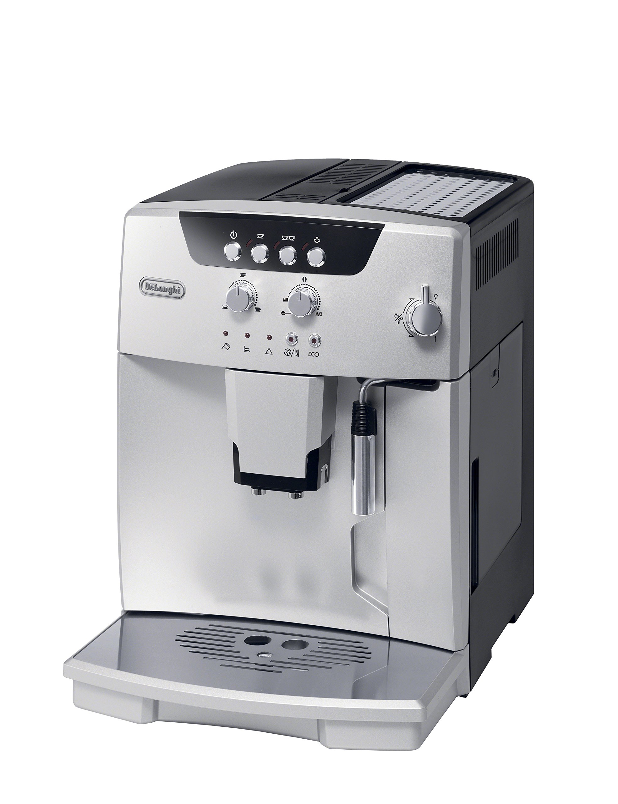 De'Longhi ESAM04110S Magnifica Fully Automatic Espresso Machine with Manual Cappuccino System, Silver by De'Longhi