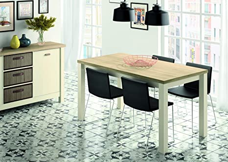 Mesa para Salon Comedor Fija Modelo Artik en Colores Cambrian y Pino ...