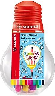 Limited Edition Lampadina con 12 Pen 68 Mini STABILO Pen 68 Mini Colorful Ideas