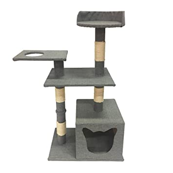 LuckyPet Árbol Para Gato Torre para rascar Trepido gatos gris Juguete para Mascotas (Cod. LU8038): Amazon.es: Productos para mascotas