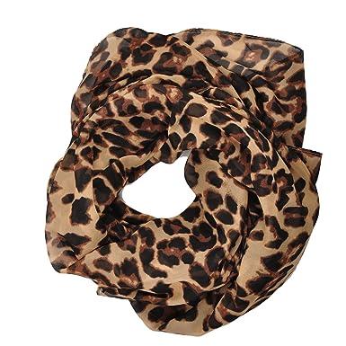 f103ca824b68 Fête des Mères grand foulard écharpe paréo Imprimé léopard café ...