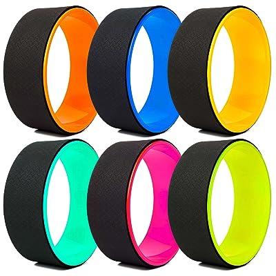 Roue yoga »RollUp« de #DoYourYoga / idéale pour le yoga, exercices de fitness et d'étirement / plusieurs associations de couleurs matériaux résistants en plastique surface douce / Pr&ea