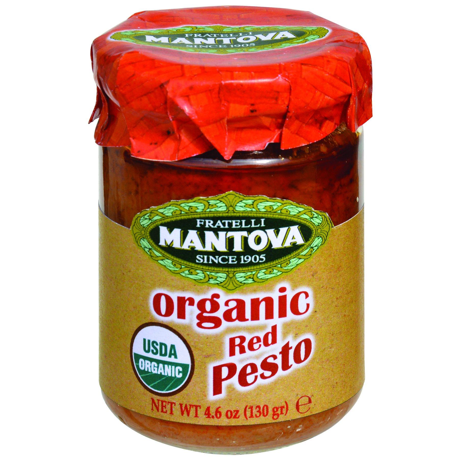 Mantova Organic Red Pesto, 4.6 Ounce (Pack of 4)