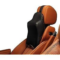 Noah Life Style- car seat neck pillow, 100% memory foam LUXURY, Car Seat headrest, universal adjustable leather strap…