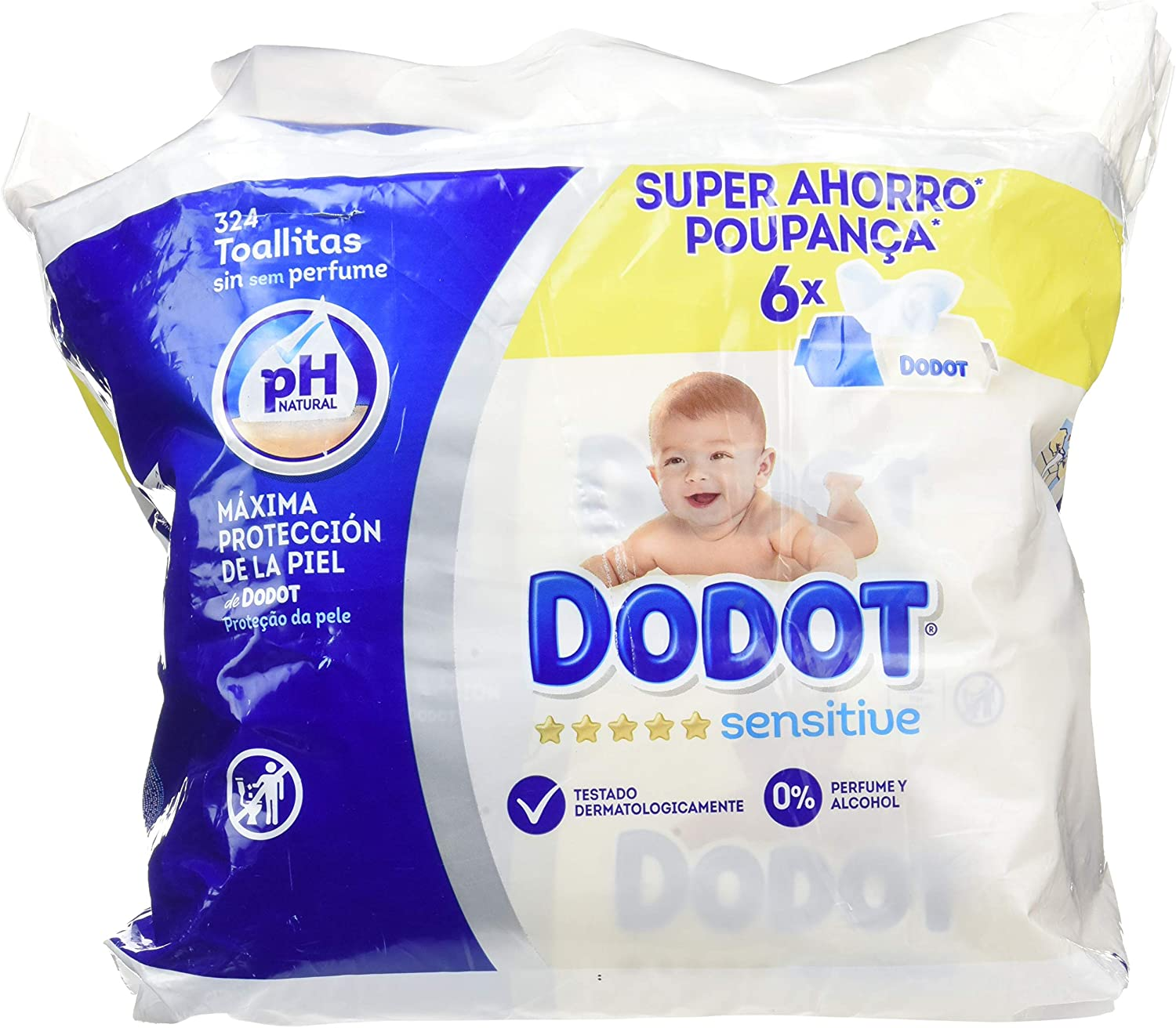 Dodot - Toallitas Sensitive 324 Unidades: Amazon.es: Salud y ...