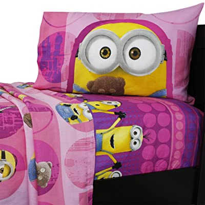 Dream Works Minion Girls Twin Sheets Set: Home & Kitchen