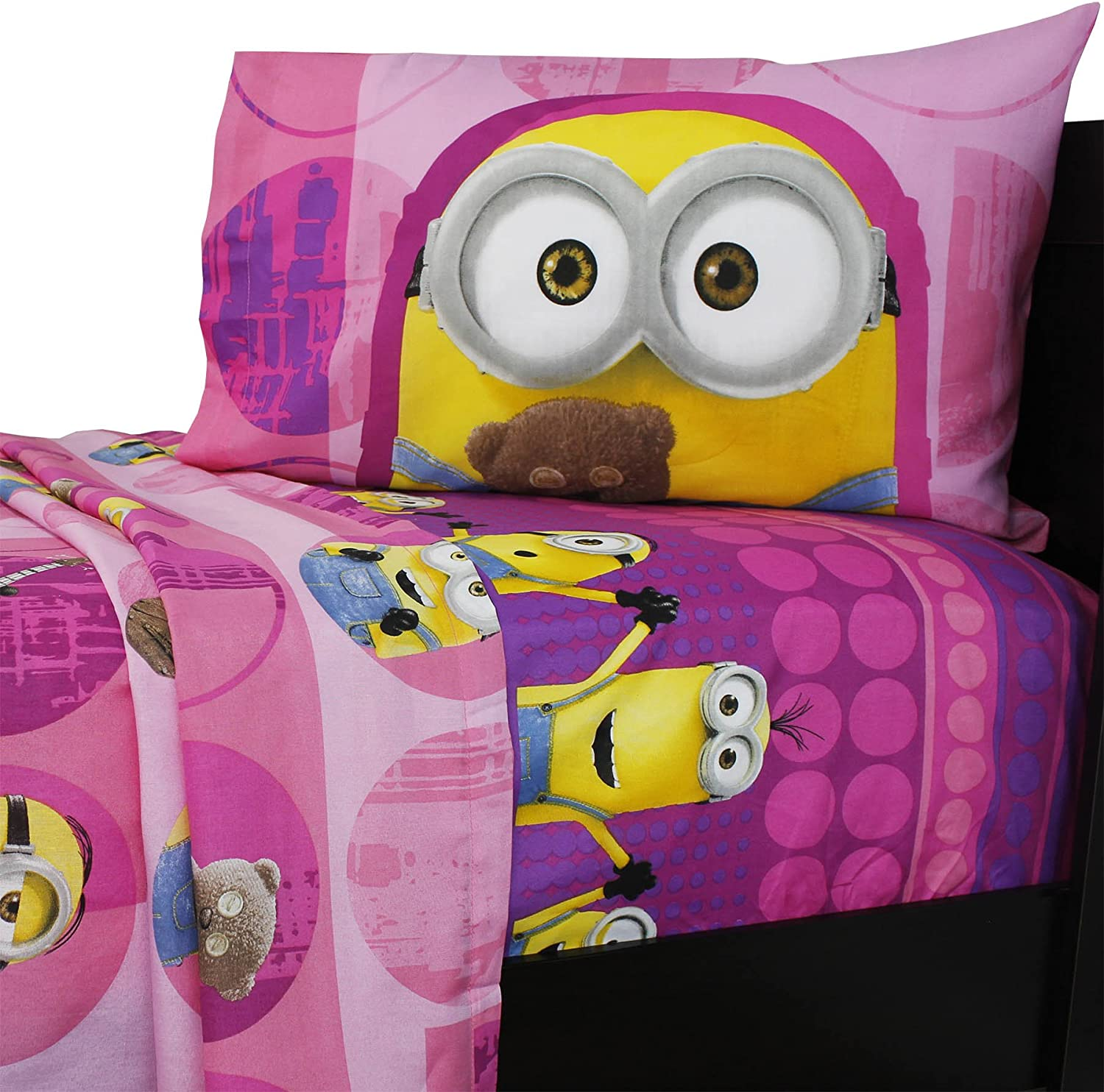 Dream Works Minion Girls Twin Sheets Set