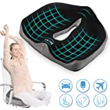 ROYI Memory Foam Seat/Chair Cushion for Relieves Back, Sciatica Pain,Tailbone Pain,Coccyx, Degenerating Disc, Orthopedic…