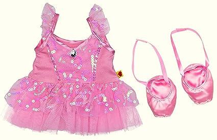 a4bf69227 Amazon.com  Build a Bear Prima Ballerina Pink Sequin Tulle Dress ...