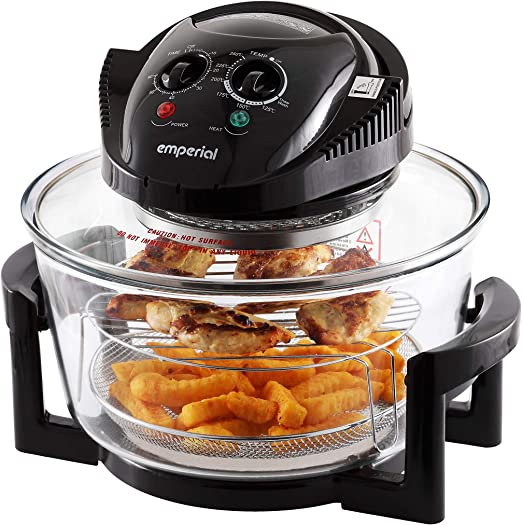 Emperial's Premium Black 17L Halogen Convection Oven - Lightweight