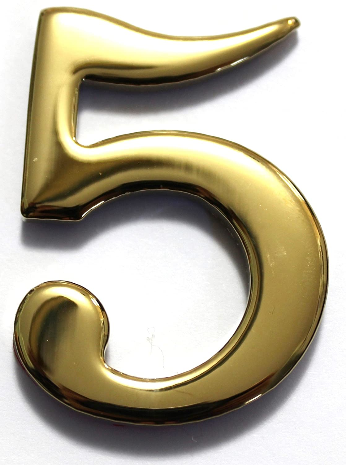 Amazon com number 5 2 brass numbers better box mailboxes brass mail box numbers two inch solid brass number 5 home improvement