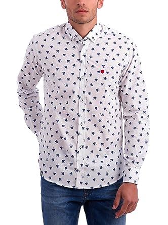POLO CLUB Camisa Hombre Brescia Blanco/Azul 2XL: Amazon.es: Ropa y ...