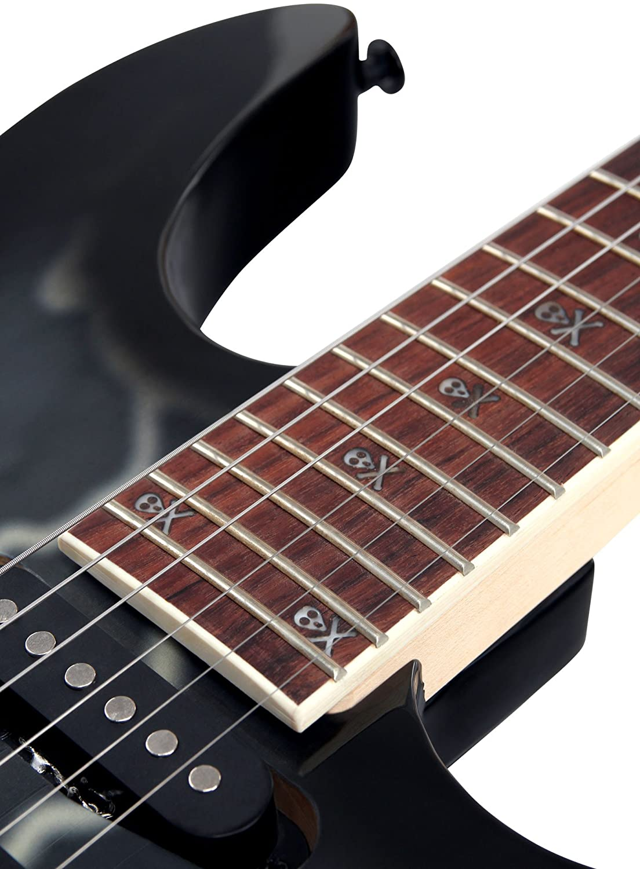 Rocktile Pro JK150F-BSK E-Gitarre Skull: Amazon.de: Musikinstrumente