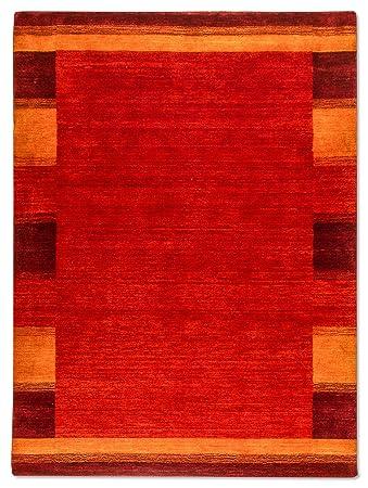 Morgenland Gabbeh Teppich Luxo 350 X 250 Cm Rot Orange Modern