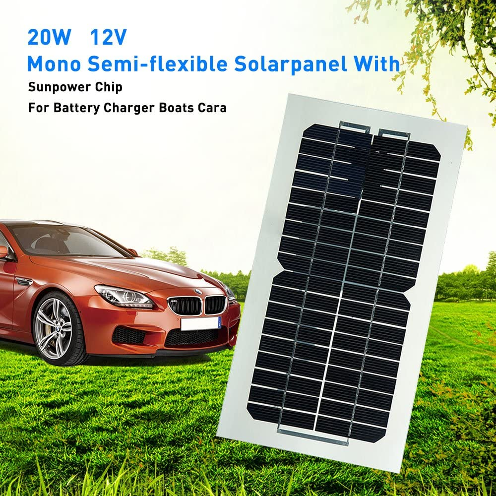 Portable Solar Panel 12V 5V USB 5.5W Car Battery Charger for Motor Boat Vehicle