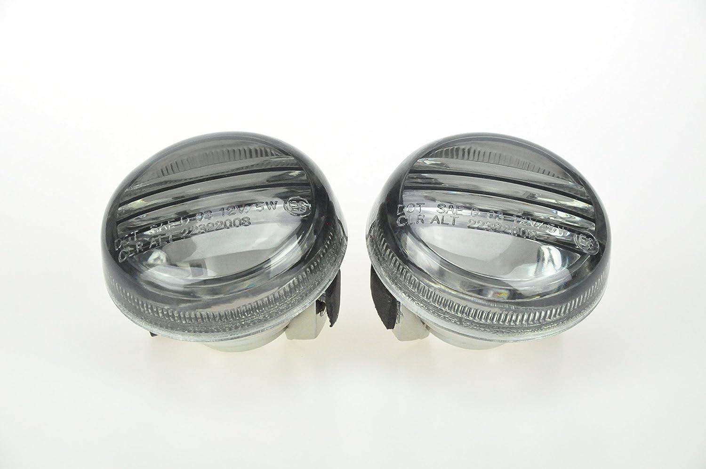 Topzone Moto Smoked Motorcycle Indicators Turn Signal Lens For Suzuki 2004-2008 All Cruisers