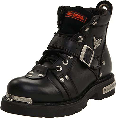 Harley-Davidson Botas Brake Buckle Piel Negro d91684: Amazon.es: Zapatos y complementos