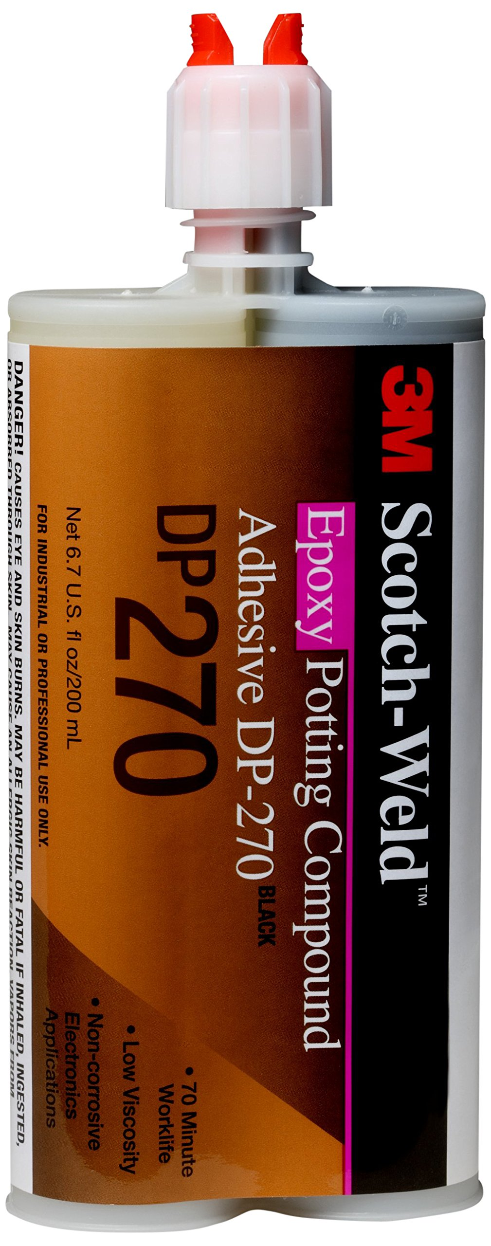 3M Scotch-Weld 87836 Epoxy Potting Compound DP270, 200 mL, Black, 6.763 fl. oz. by 3M Scotch-Weld