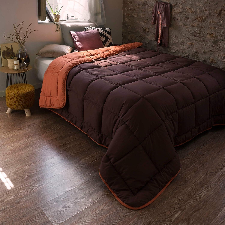 Habita Home NORDICO SINTET 250x270cm Iceland Naranja-Marron Cama 150 Color Naranja//Chocolate