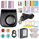 Neewer 10-en-1 Kit Accessoires Noir pour Fujifilm Instax Mini 9 8+ 8 8s: Housse/ Album/ Objectif de Selfie / 4x Filtre de Couleur/ 5x Cadre sur Table/ 20x Cadre Suspendu sur Mur