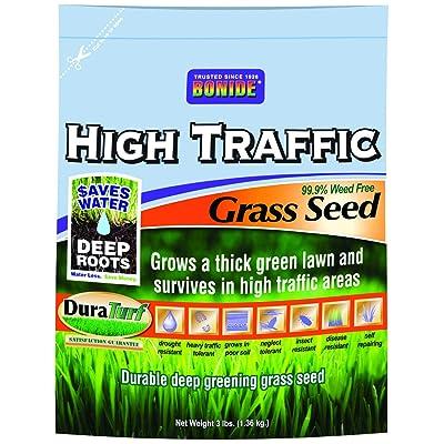 Bonide 60281 High Traffic Grass Seed, 3-Pound : Grass Plants : Garden & Outdoor