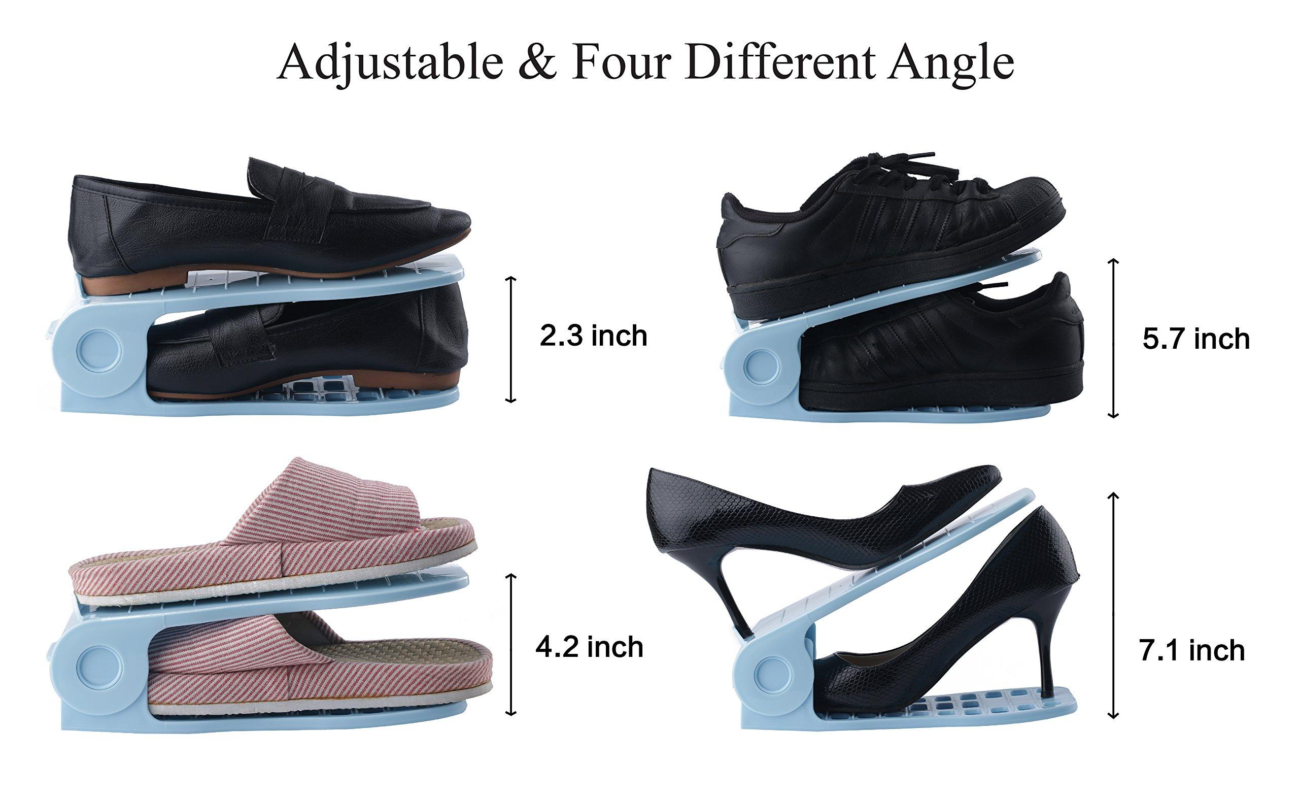 Mouselemur Shoe Slots Space Saver Shoe Stand Organizer | Adjustable Shoe Rack 6 Piece Set by Mouselemur (Image #3)
