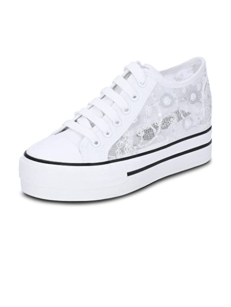 8ff87eb5cad Get Glamr Women s White Sneakers (Get (Get-2262) - 7 UK  Buy Online ...