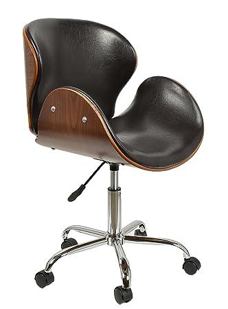 Schreibtischstuhl design  ts-ideen 1 x Schreibtischstuhl Drehsessel Retro Design Rollen ...