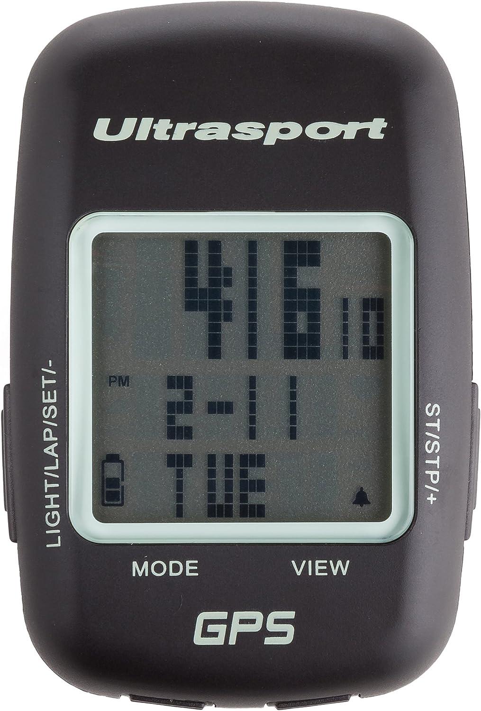 Schwarz Ultrasport GPS-Fahrradcomputer NavBike 400